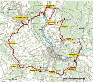 Itinéraire circuit de randonnée Interregio