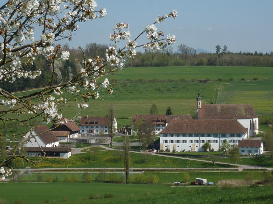 Visible du sentier Interregio, Abbaye cistercienne d'Olsberg en Suisse