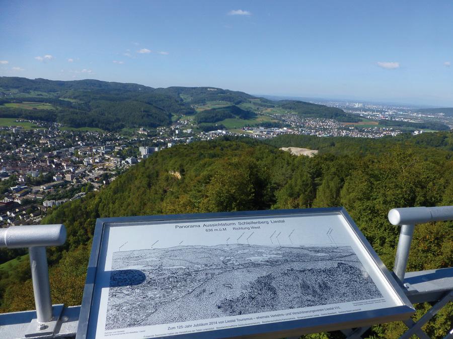 Interregio : Vue de Schleifenberg en Suisse