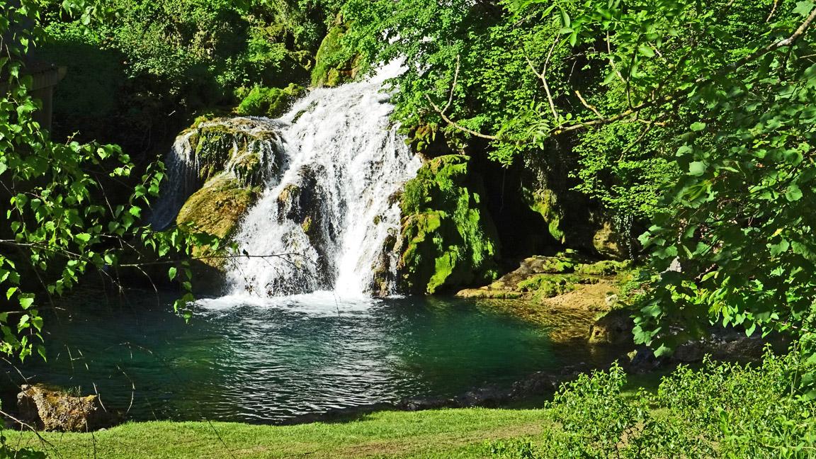 Jura, Cascade des Tufs, Reculée des Planches, Cirque Fer à Cheval