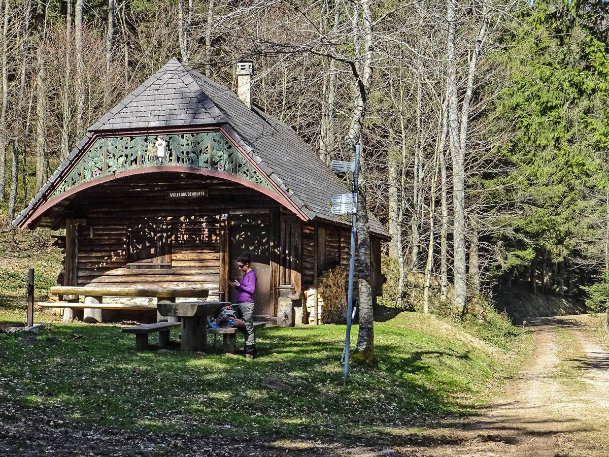 Elztal, Forêt noire, abri Wolfsgrubenhuette