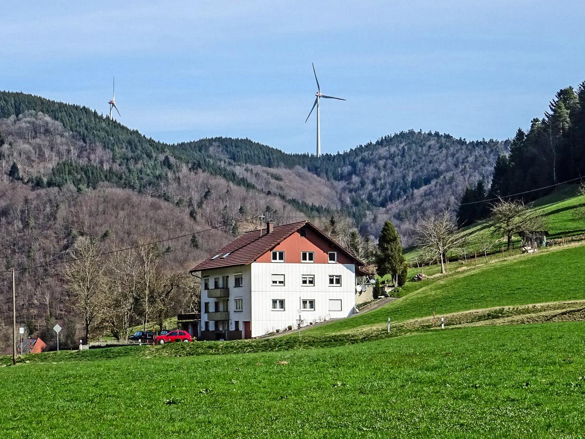 Eoliennes, Elztal, Forêt Noire