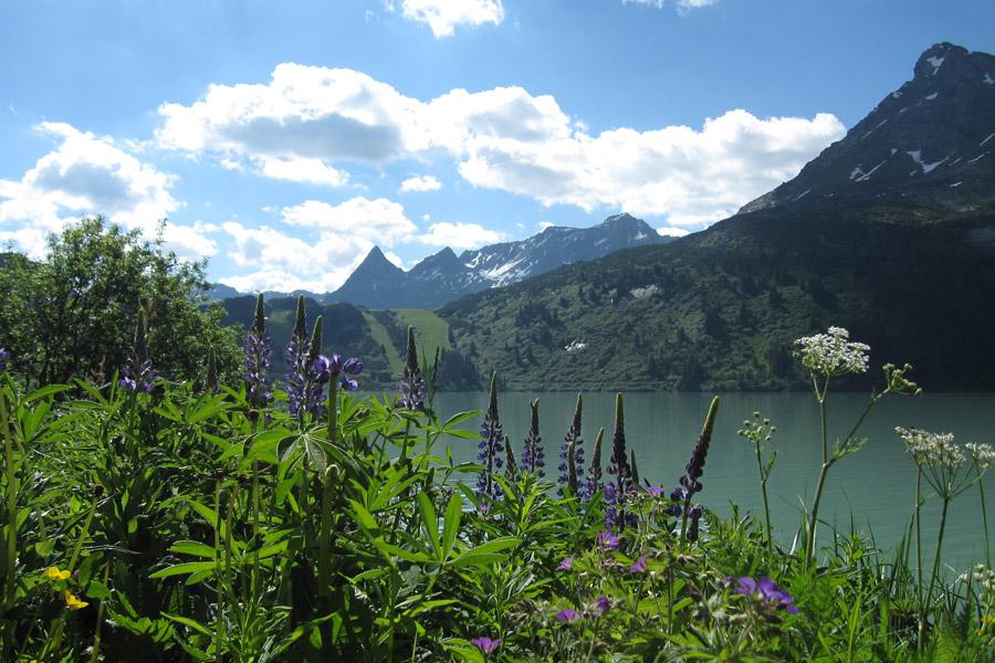 Tyrol, Autriche, lac Kopsstausee, Ischgl