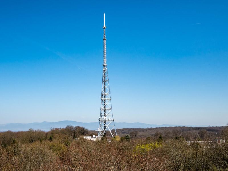 Mulhouse, Rebberg, Antenne de télévision, Vosges