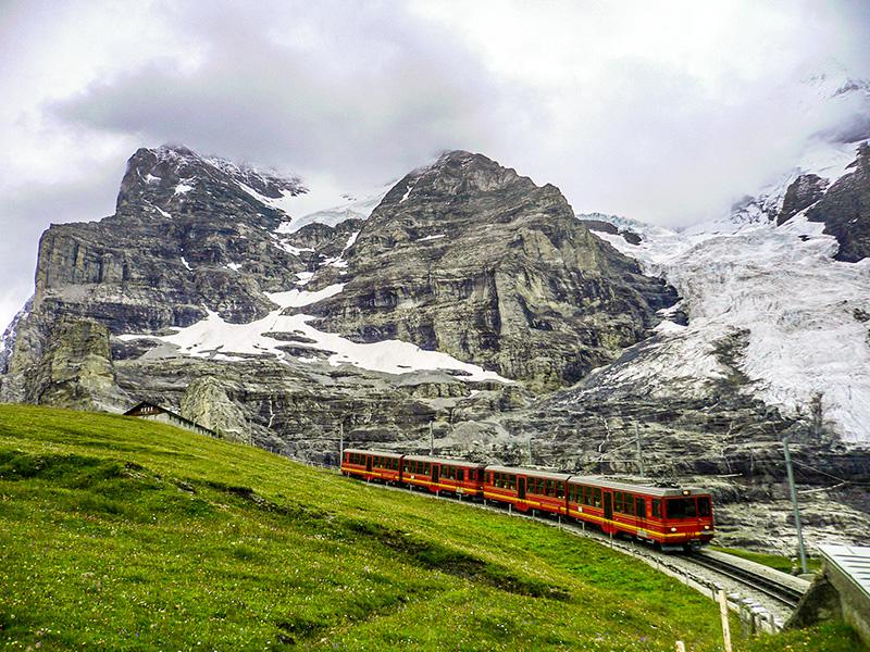 Train à crémaillère, Jungfraujoch, Suisse