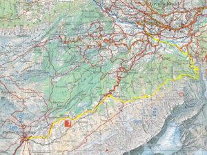 Carte et tracé GPS de Kleine Scheidegg jusqu'à Grindelwald