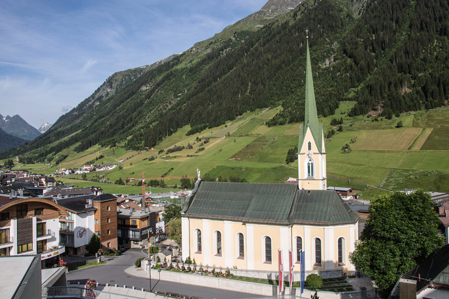 Ischgl, centre du village