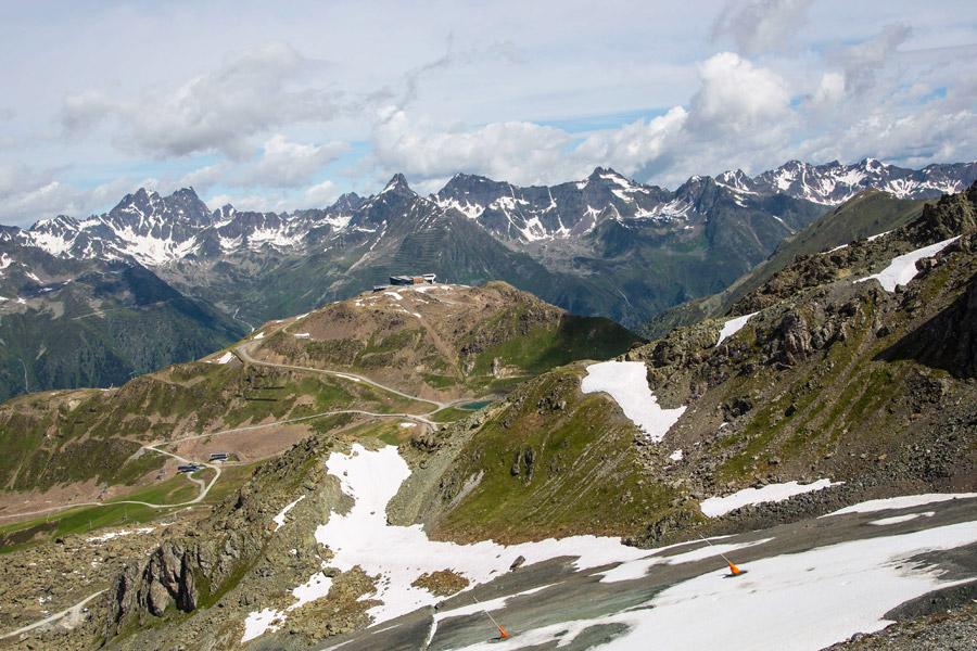 Vue d'Idalp, au-dessus d'Ischgl