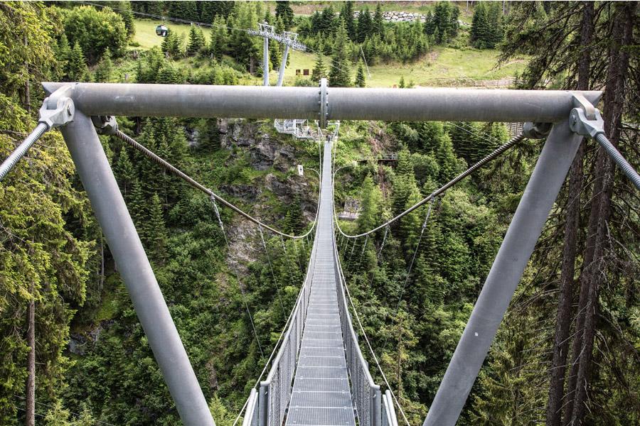 Ischgl, pont suspendu