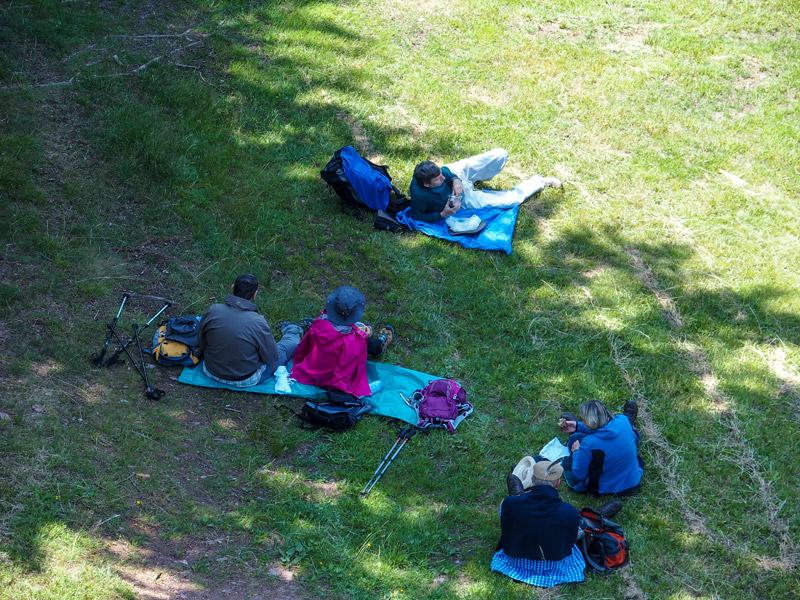 picnic des randonneurs