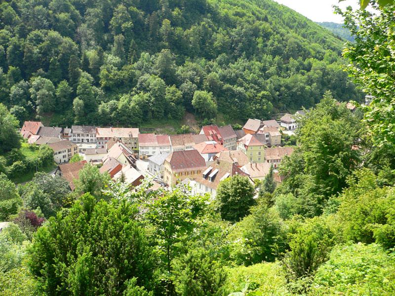 Village de Ferrette vu du château