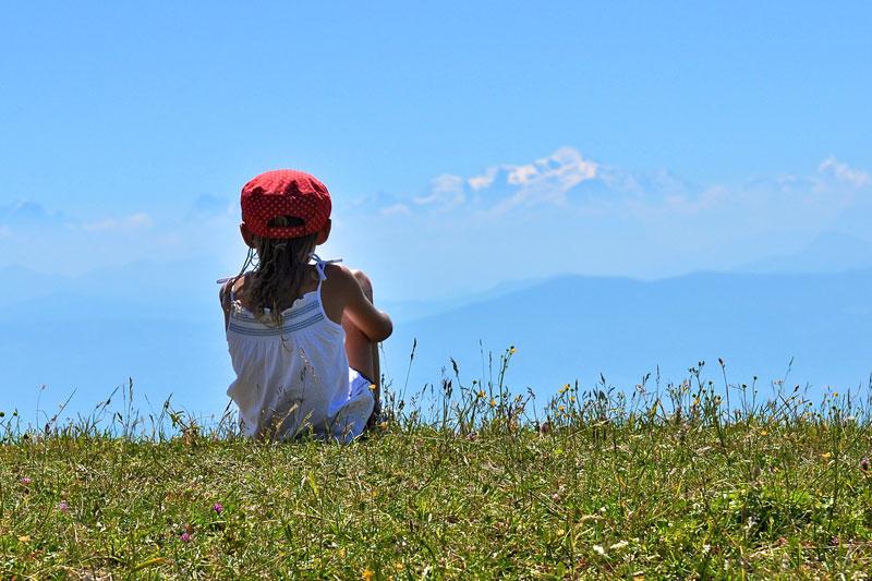 Des Rousses, on voit bien les Alpes