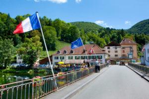 Goumois, village situé sur la frontière franco-suisse