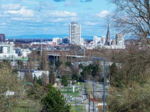 Vue de Mulhouse depuis le campus universitaire